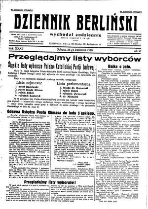 Dziennik Berliński vom 28.04.1928