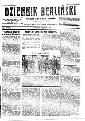 Dziennik Berliński vom 08.01.1930