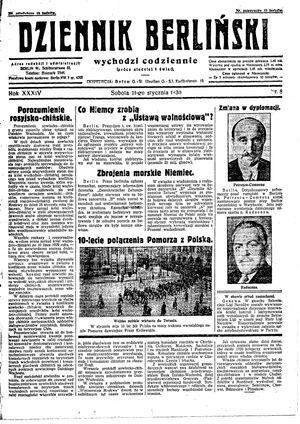 Dziennik Berliński vom 11.01.1930