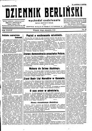 Dziennik Berliński vom 14.01.1930