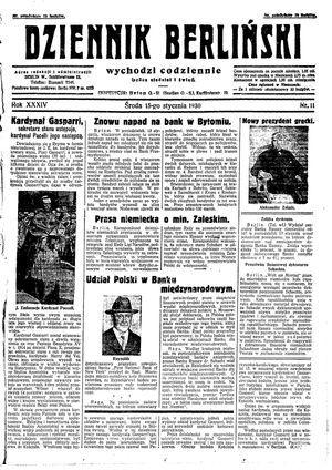 Dziennik Berliński vom 15.01.1930