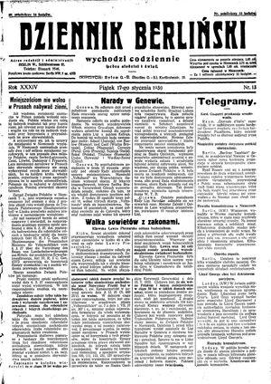 Dziennik Berliński on Jan 17, 1930