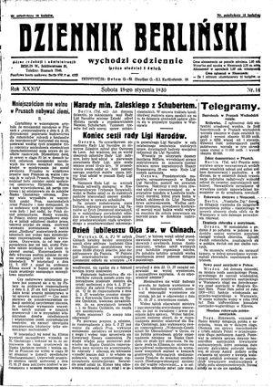 Dziennik Berliński vom 18.01.1930