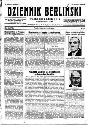 Dziennik Berliński vom 22.01.1930