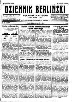 Dziennik Berliński vom 24.01.1930