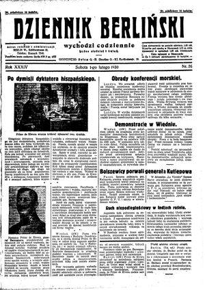 Dziennik Berliński vom 01.02.1930