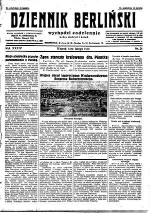 Dziennik Berliński vom 04.02.1930