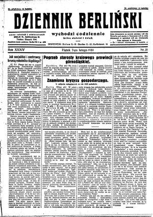 Dziennik Berliński vom 07.02.1930