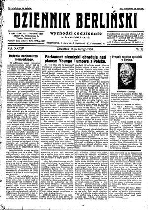 Dziennik Berliński vom 13.02.1930