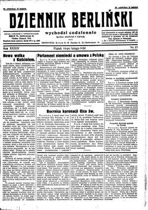 Dziennik Berliński vom 14.02.1930