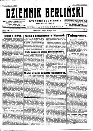 Dziennik Berliński vom 20.02.1930