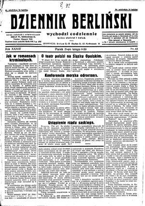 Dziennik Berliński vom 21.02.1930