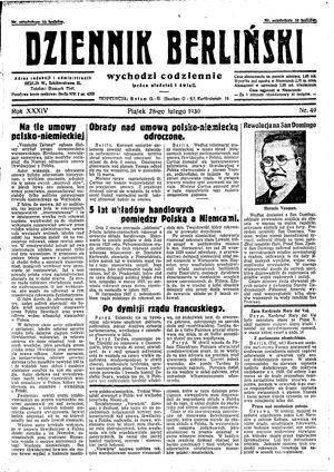 Dziennik Berliński vom 28.02.1930