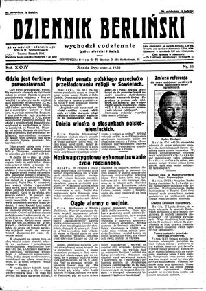 Dziennik Berliński on Mar 1, 1930