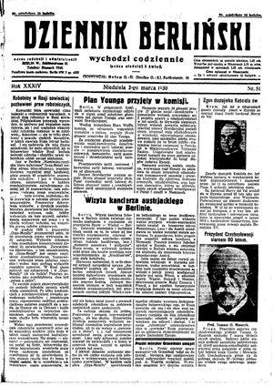 Dziennik Berliński vom 02.03.1930