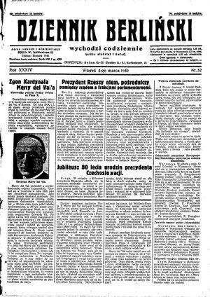 Dziennik Berliński vom 04.03.1930