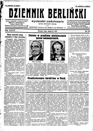 Dziennik Berliński on Mar 5, 1930