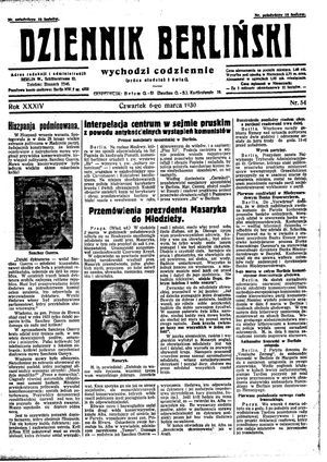 Dziennik Berliński vom 06.03.1930