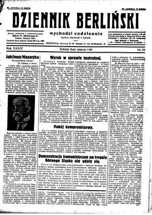 Dziennik Berliński vom 08.03.1930