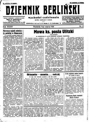 Dziennik Berliński vom 09.03.1930