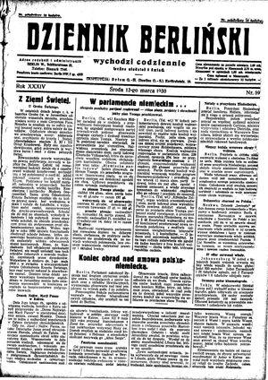 Dziennik Berliński vom 12.03.1930