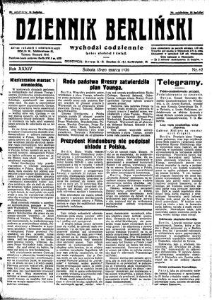Dziennik Berliński vom 15.03.1930