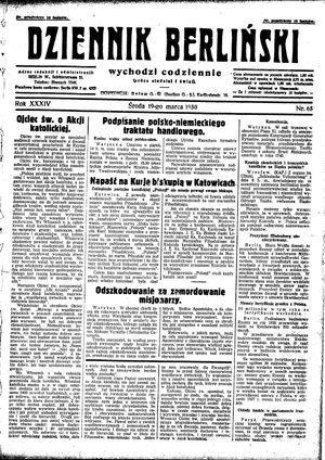 Dziennik Berliński vom 19.03.1930