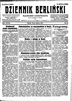 Dziennik Berliński vom 21.03.1930