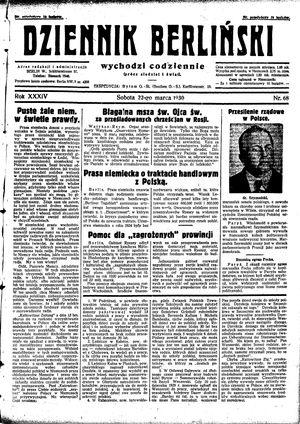 Dziennik Berliński vom 22.03.1930