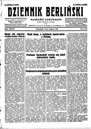 Dziennik Berliński vom 27.03.1930