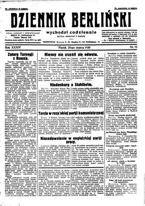 Dziennik Berliński vom 28.03.1930