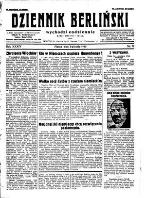 Dziennik Berliński vom 04.04.1930