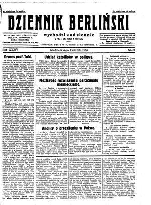 Dziennik Berliński vom 06.04.1930