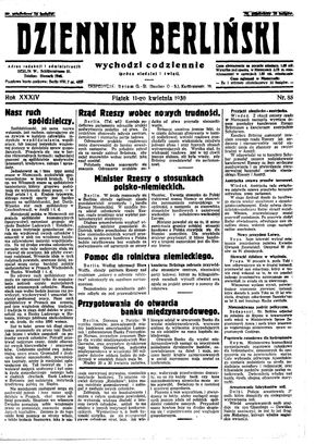 Dziennik Berliński on Apr 11, 1930