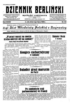 Dziennik Berliński vom 03.07.1935