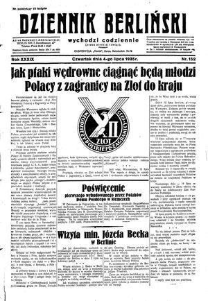 Dziennik Berliński vom 04.07.1935