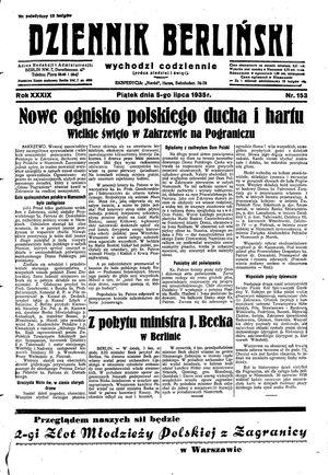 Dziennik Berliński vom 05.07.1935
