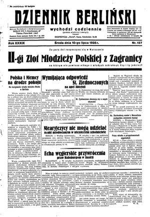 Dziennik Berliński vom 10.07.1935