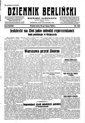 Dziennik Berliński vom 12.07.1935
