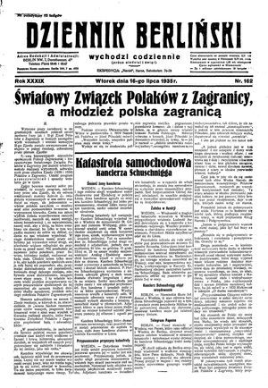 Dziennik Berliński vom 16.07.1935