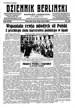 Dziennik Berliński vom 18.07.1935