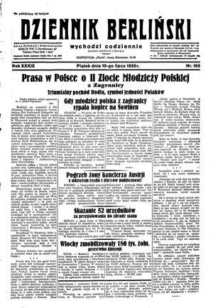 Dziennik Berliński vom 19.07.1935