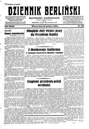 Dziennik Berliński vom 23.07.1935