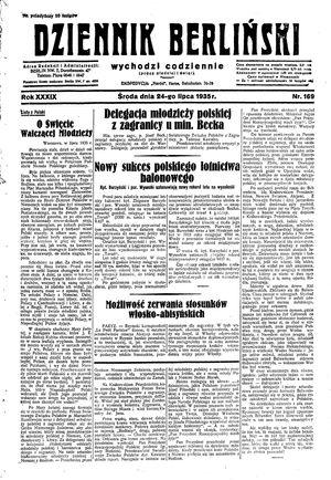 Dziennik Berliński vom 24.07.1935