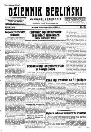 Dziennik Berliński vom 30.07.1935