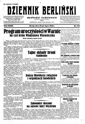 Dziennik Berliński on Jul 31, 1935