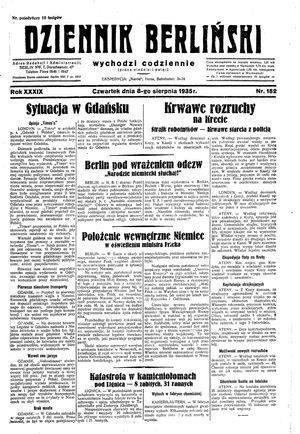 Dziennik Berliński vom 08.08.1935