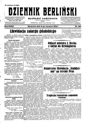 Dziennik Berliński vom 11.08.1935