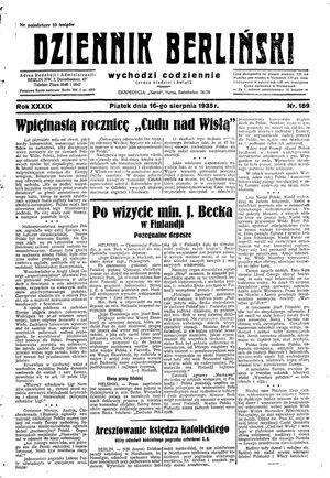 Dziennik Berliński vom 16.08.1935