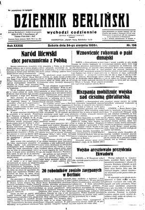 Dziennik Berliński vom 24.08.1935